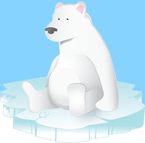 Jegesmedve a jégtáblán